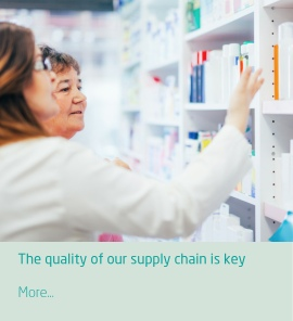 The quality of our supply chain is key, you need it, we supply on time