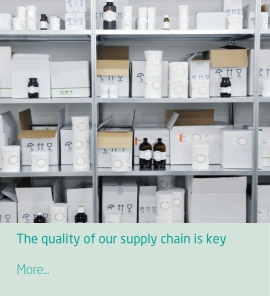 The quality of our supply chain is key to ensuring tour efficient stock management
